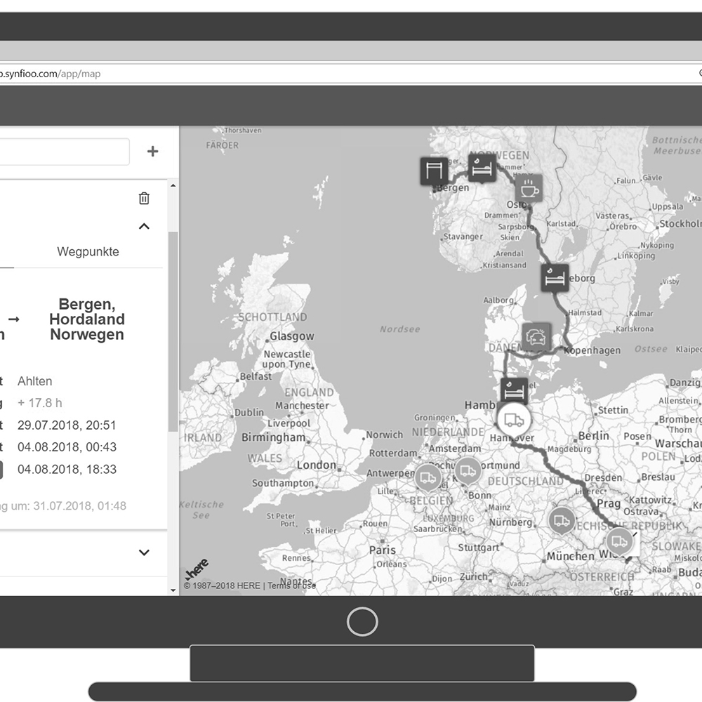 The start-up company Synfioo uses algorithms to calculate the best route for shipments in real time (Photo: Synfioo)