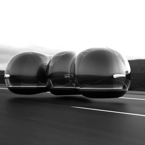 Sieht so die Mobilität der Zukunft aus? The Float Concept Vehicle, 2017, Design von Yuchen Cai, University of the Arts London für Renault Car of the Future Contest, Frankreich (Foto: Cooper Hewitt Press Images/Renault)