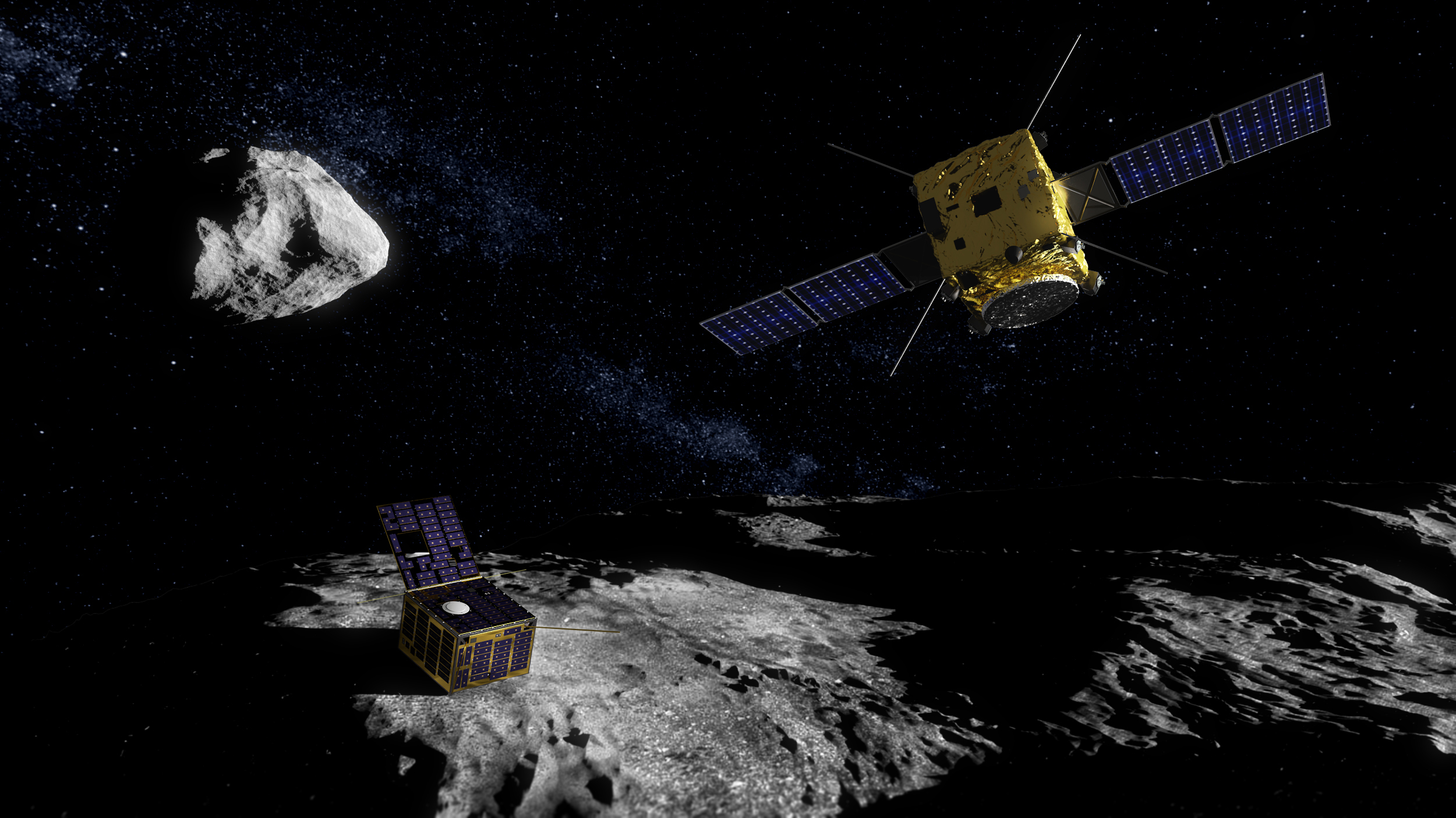 Successful manoeuvre: the lander sets down on an asteroid