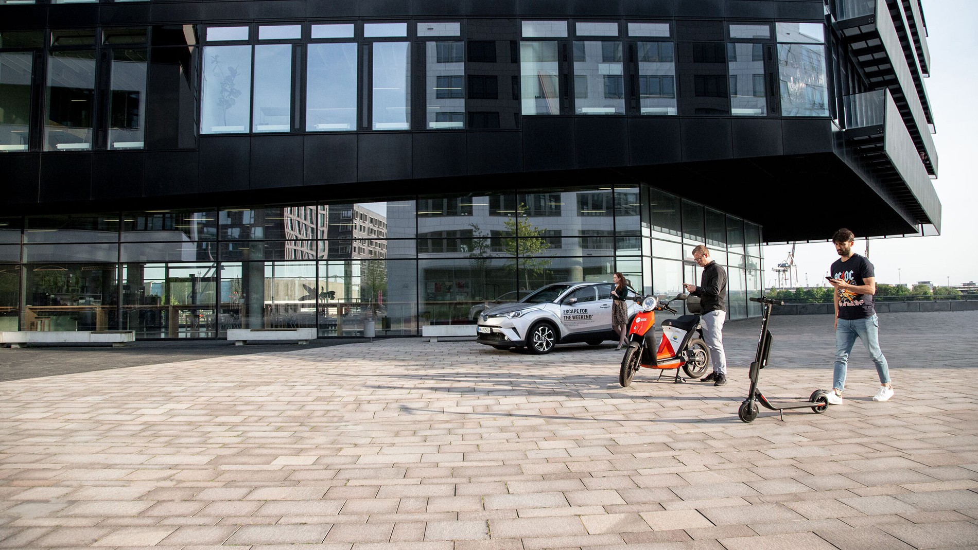 #WeAllMove combines the offers of mobility providers on a central platform (Photo: Wunder Mobility)